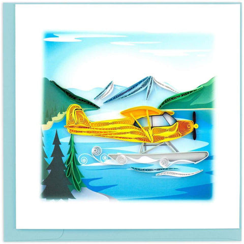 Office - Quilled Floatplane Greeting Card