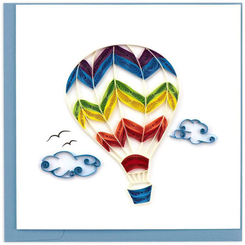 Office - Quilled Hot Air Balloon Greeting Card