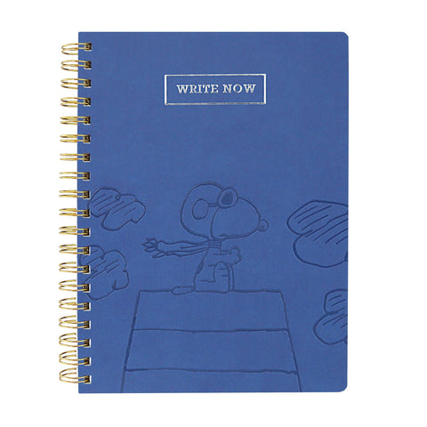 Office - Snoopy Flying Ace 8x10 Spiral Bound Vegan Leather Journal