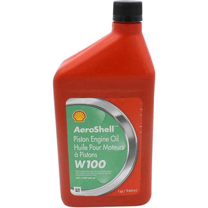 Oil - Aeroshell Aviation Oil W100 SAE 50 QT