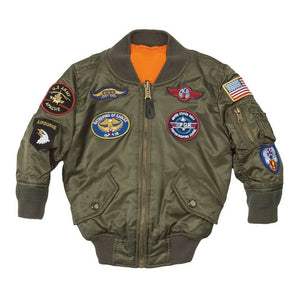 Outerwear - Alpha MA-1 Nylon Youth Flight Jacket W/Patches