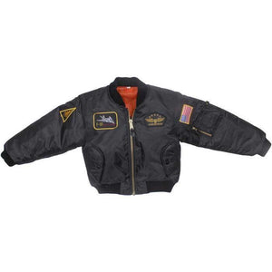 Outerwear - Kids Flight Jacket With Patches