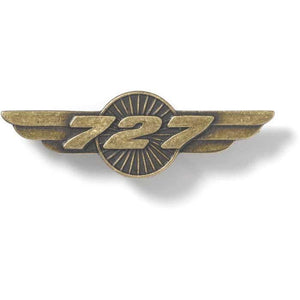 Pins Patches Lanyards Keychains - Boeing 727 Wings Pin