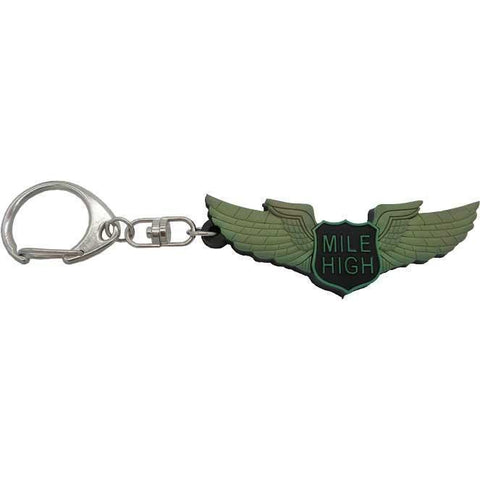 Pins Patches Lanyards Keychains - Mile High Club Rubber Keychain