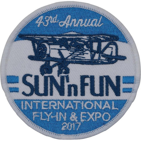 Pins Patches Lanyards Keychains - Patch - 2017 SUN 'n FUN Embroidered Patch (Iron On Application)