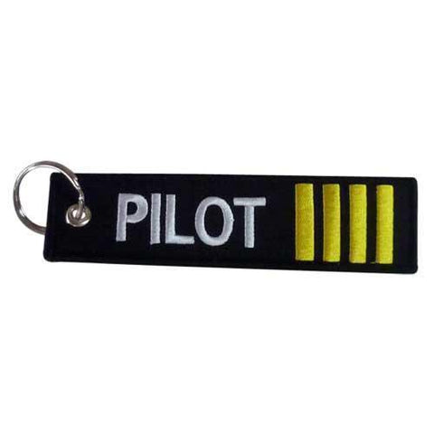 """Pins Patches Lanyards Keychains - Pilot Toys Pilot Embroidered 5"""" Embroidered Keychain"""