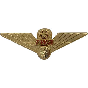 Pins Patches Lanyards Keychains - Pilot Toys TWA 3D Retro Wing Pin