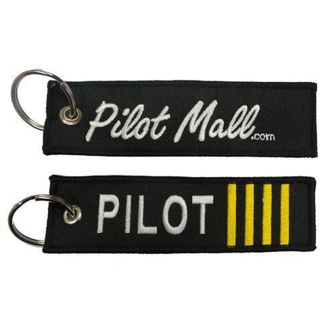"""Pins Patches Lanyards Keychains - PilotMall.com Pilot 5"""" Embroidered Keychain"""
