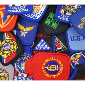 Pins Patches Lanyards Keychains - US Military Key Ring