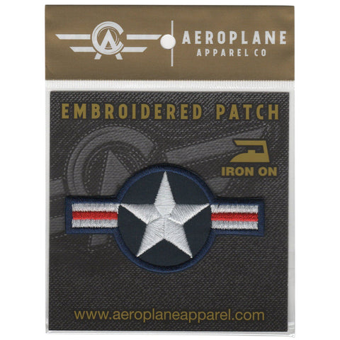 Pins Patches Lanyards Keychains - USAF Roundel Current Embroidered Patch (Iron On Application)