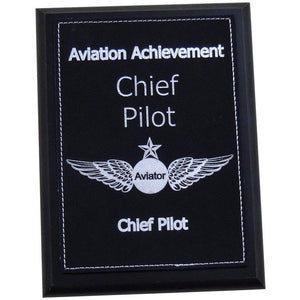 Plaques - Chief Pilot Aviation Achievement Plaque