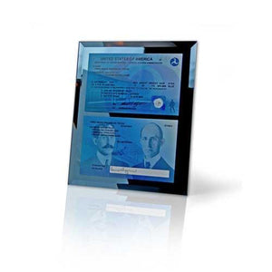 Plaques - Commemorative FAA License Mirrored Plaque