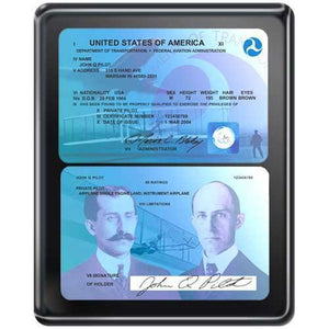 Plaques - Commemorative FAA License Plaque (Black)