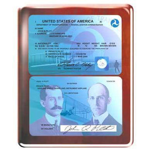 Plaques - Commemorative FAA License Plaque (Rosewood)