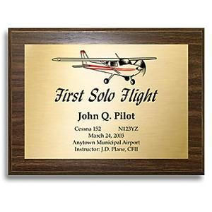 Plaques - First Solo Commemorative Plaque