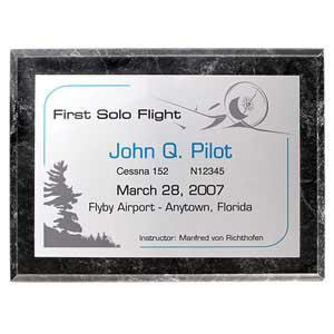 Plaques - First Solo Flight - Faux Marble