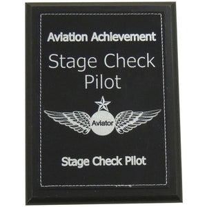 Plaques - Stage Check Pilot Aviation Achievement Plaque