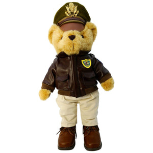"Plush - Pilot Toys Flying Tigers Museum Quality Plush Military Bear 16"" Tall"