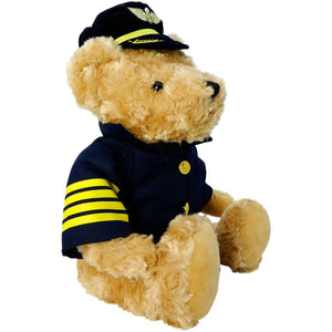 "Plush - Pilot Toys Large Plush Captain Bear 16"" Tall"