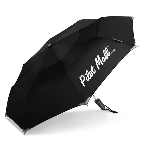 Promotional Products - PilotMall.com WalkSafe® Vented Auto Open/Auto Close Compact Safety Umbrella