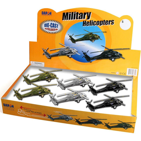 Pull Back Planes - Blackhawk Pullback Helicopter (1 Piece / Assorted Styles)
