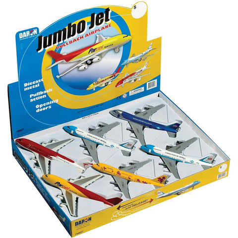 Pull Back Planes - Jumbo Jet Pullback Toy (1 Piece / Assorted Styles)