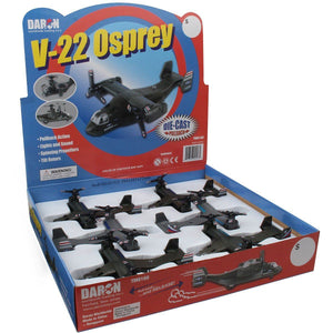 Pull Back Planes - V-22 Osprey Pullback Toy W/Light & Sound (1 Piece / Assorted Styles)
