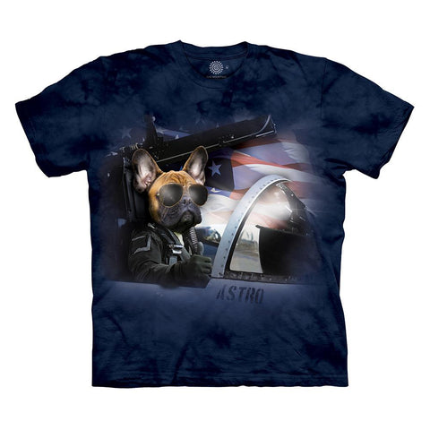 Shirts - Captain Astro The Flying Frenchie T-Shirt By The Mountain