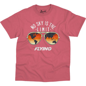 Shirts - No Sky Is The Limit Flying Aero Shop T-Shirt