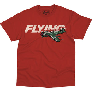 Shirts - P-40 Flying High Flying Aero Shop T-Shirt