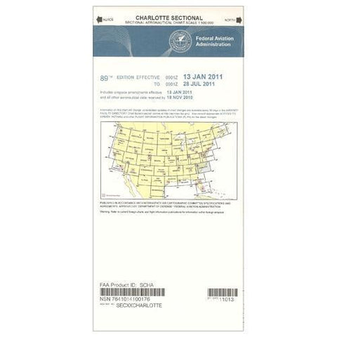 VFR Sectional Aeronautical Charts - FAA Charlotte Sectional - Expires December 31, 2020
