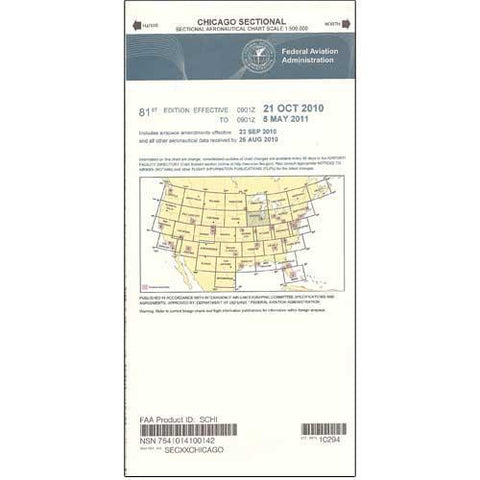 VFR Sectional Aeronautical Charts - FAA Chicago Sectional - Expires February 25, 2021