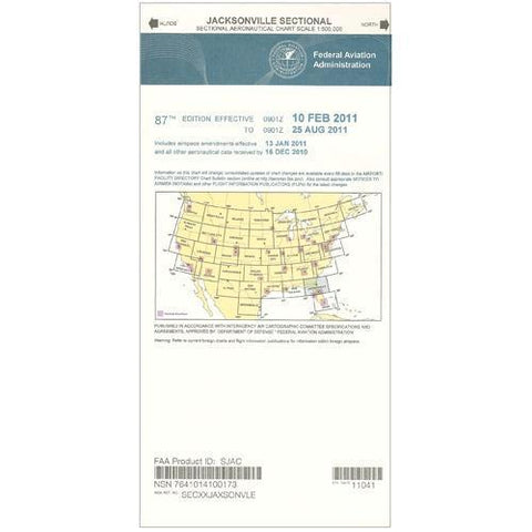 VFR Sectional Aeronautical Charts - FAA Jacksonville Sectional - Expires December 31, 2020