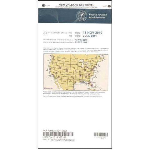 VFR Sectional Aeronautical Charts - FAA New Orleans Sectional - Expires November 5, 2020