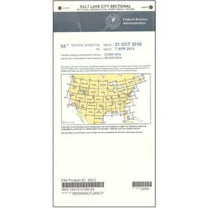 VFR Sectional Aeronautical Charts - FAA Salt Lake City Sectional - Expires February 25, 2021