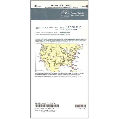 VFR Sectional Aeronautical Charts - FAA Seattle Sectional - Expires December 2, 2020