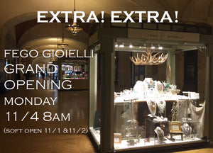 GRAND OPENING! Fego Gioielli Grand Central NYC Pop Shop