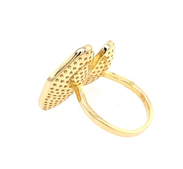 Pave Gold CZ 14kt Gold Vermeil Ring google facebook amazon gmail youtube silver