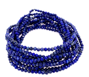 Lapis Necklace infinity faceted