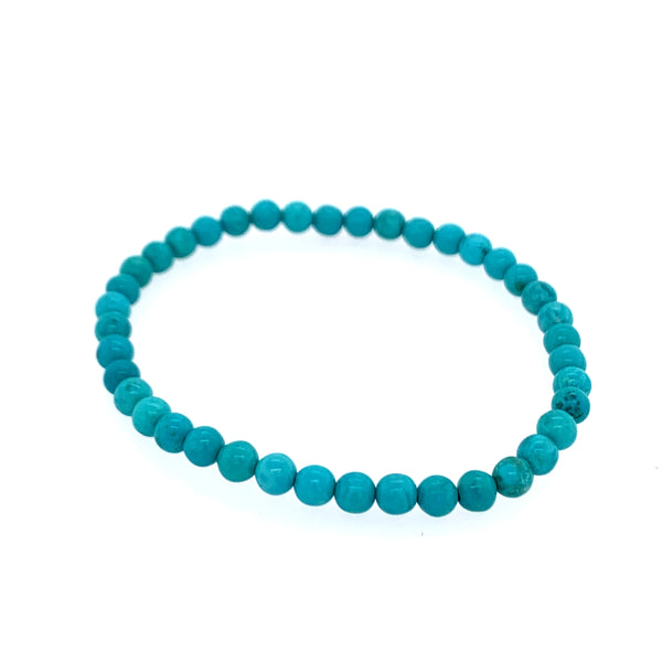 Turquoise (Stablilized) 5mm Single Stone Bracelets (Bundled 5)  Media 4 of 4