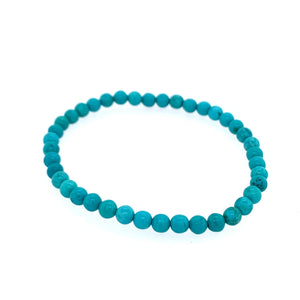 Turquoise (Stablilized) 5mm Single Stone Bracelet