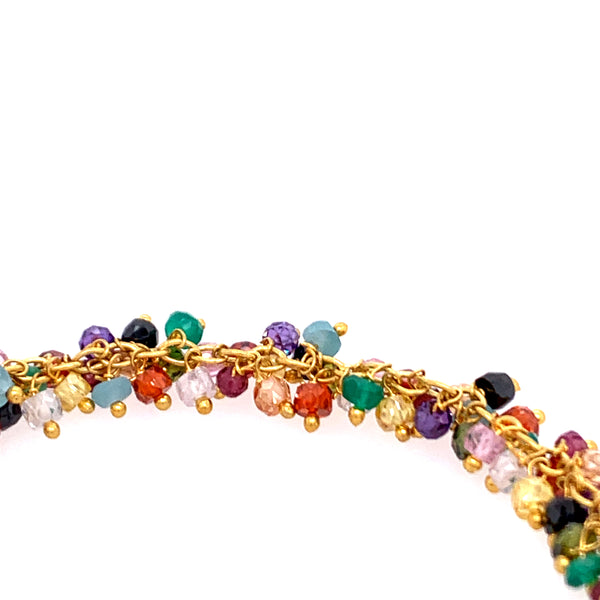 Multi Colorful Semi-Precious Stone Shimmer Bracelet gold silver google amazon facebook instagram youtube