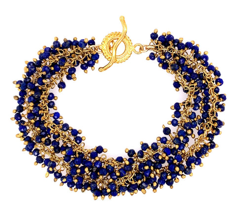 spinel shimmer bracelet Gold gemstone natural google facebook youtube amazon gmail lapis azul