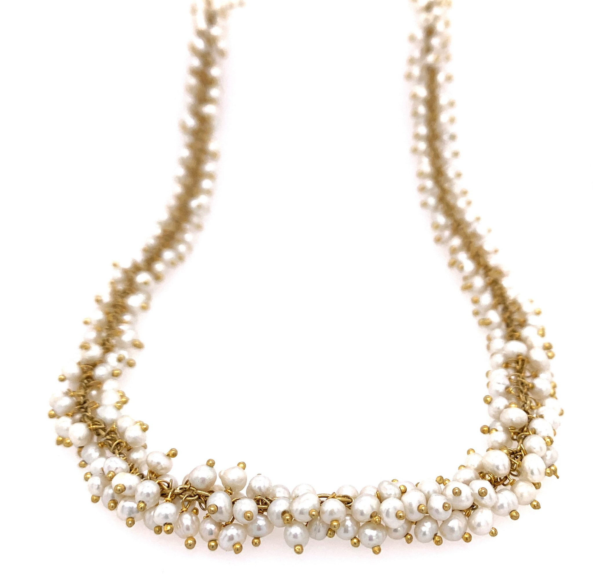 Pearl Shimmer Necklace, Gold