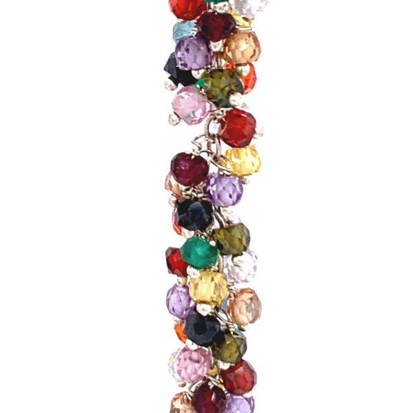 "Sexy Long Large Stone Single Multi Color Gemstone ""Shimmer"" EarringSexy Long Large Stone Single Multi Color Gemstone ""Shimmer"" Earring silver gold google youtube facebook semi precious"
