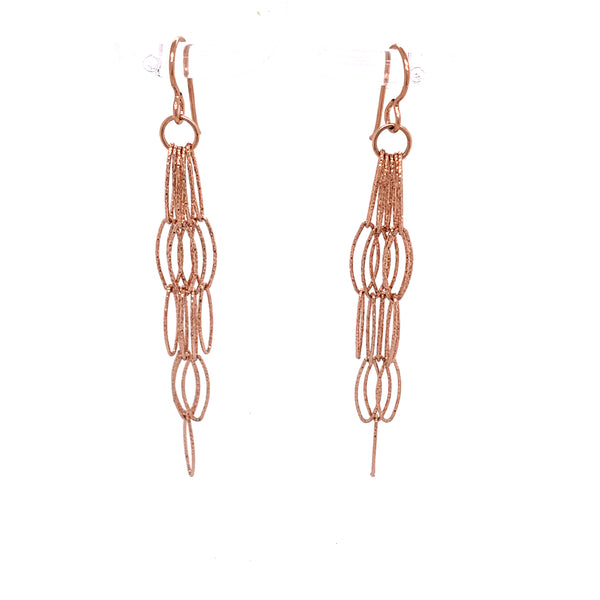 Disco Silver Diamond Cut X-Long Dreamcatcher Fringe Earrings google facebook youtube  rose gold