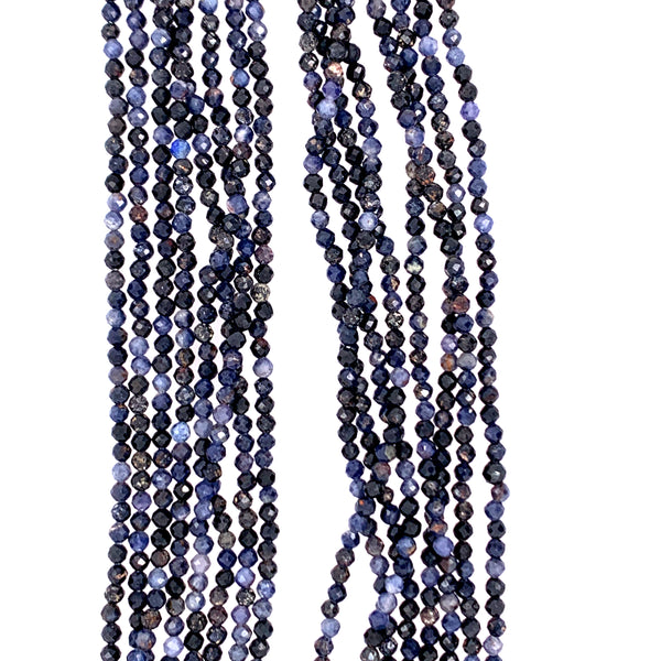 "Sapphire Faceted 100"" Infinity Long Necklace google youtube facebook"