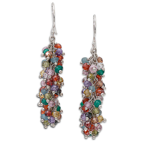 "Multi Color Gemstone ""Shimmer"" Earring - Medium"