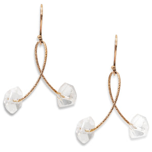 "Rock Crystal ""Twirl"" Earrings"