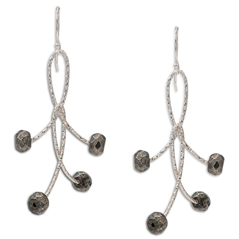 "Pyrite Double ""Orbits"" Earrings"
